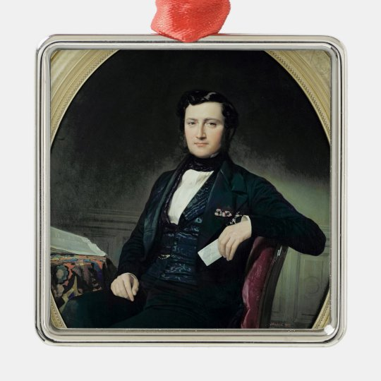 Portrait of Baron Weisweiller, 1853 Metal Ornament