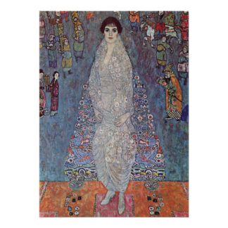 Portrait of Baroness Elisabeth Bachofen by Klimt Poster