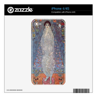 Portrait of Baroness Elisabeth Bachofen by Klimt Decal For The iPhone 4S