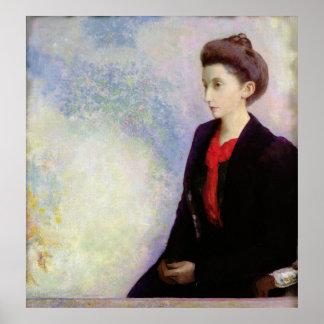 Portrait of Baroness Robert de Domecy, 1900 Poster