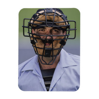 Portrait of baseball umpire wearing protective magnets