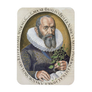 Portrait of Basil Besler (1561-1629) in 1612, from Magnet