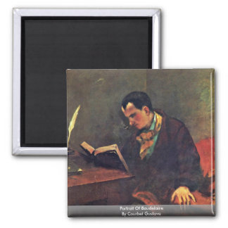 Portrait Of Baudelaire By Courbet Gustave 2 Inch Square Magnet