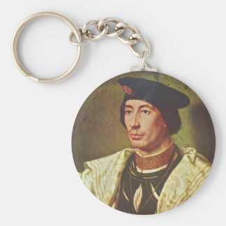 Portrait of Baudoin of Burgundy by Mabuse Key Chain