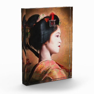 Portrait of beautiful Geisha digital painting Award