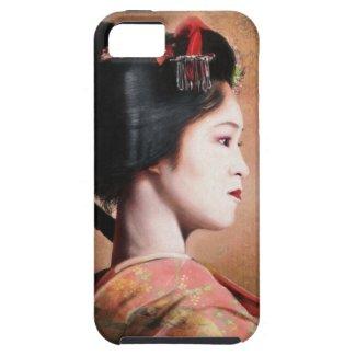 Portrait of beautiful Geisha digital painting iPhone 5 Cover