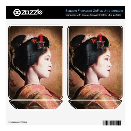 Portrait of beautiful Geisha digital painting FreeAgent GoFlex Skin