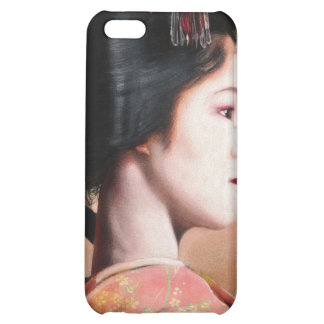 Portrait of beautiful Geisha digital painting iPhone 5C Cases