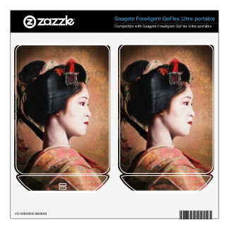 Portrait of beautiful Geisha digital painting Skin For FreeAgent GoFlex