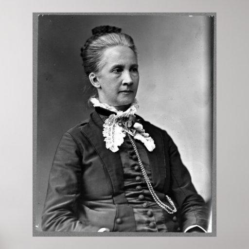 Portrait of Belva Ann Bennett Lockwood Poster