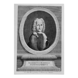 Portrait of Benedetto Marcello Poster