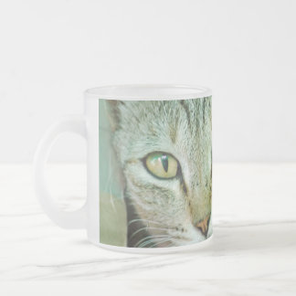 Portrait of Bengal cat Frosted Glass Coffee Mug