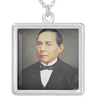 Portrait of Benito Juarez , 1948 Square Pendant Necklace