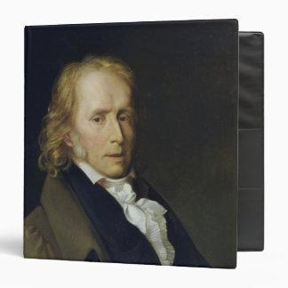 Portrait of Benjamin Constant de Rebecque 3 Ring Binder