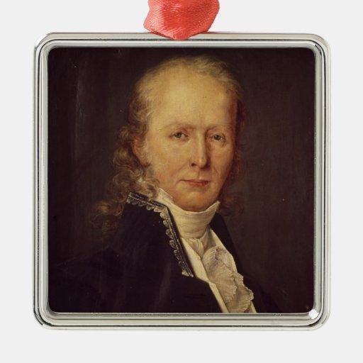 Portrait of Benjamin Constant Square Metal Christmas Ornament