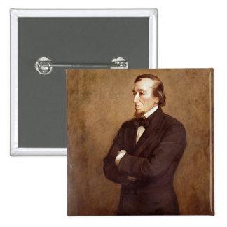 Portrait of Benjamin Disraeli Pinback Button