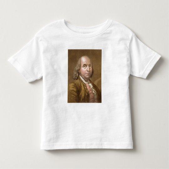 Portrait of Benjamin Franklin (1706-90), from 'Le Toddler T-shirt