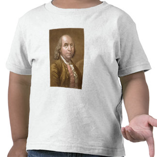 Portrait of Benjamin Franklin (1706-90), from 'Le Tshirt