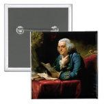 Portrait of Benjamin Franklin 2 Inch Square Button