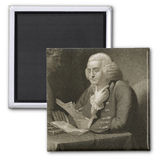Portrait of Benjamin Franklin, engraved by Thomas Magnet