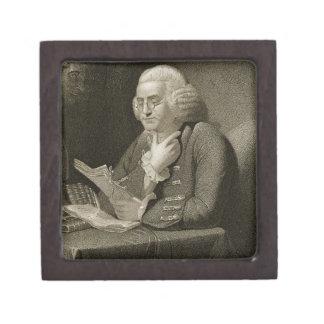 Portrait of Benjamin Franklin, engraved by Thomas Premium Trinket Boxes