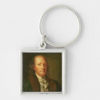 Portrait of Benjamin Franklin Keychains