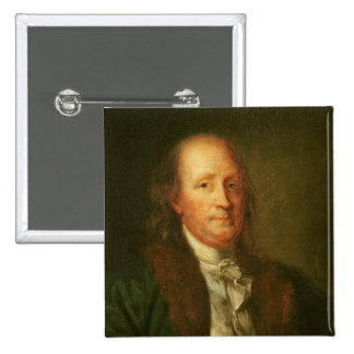 Portrait of Benjamin Franklin Pinback Button