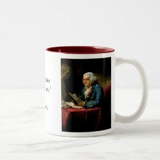Portrait of Benjamin Franklin with Quote Mug