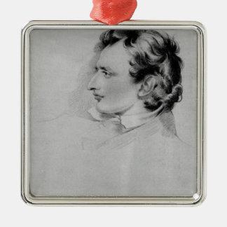 Portrait of Benjamin Robert Haydon Metal Ornament