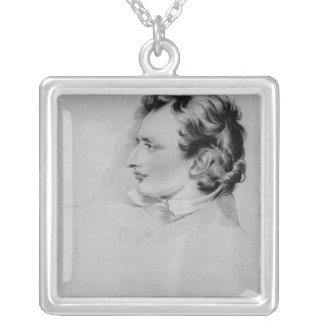 Portrait of Benjamin Robert Haydon Silver Plated Necklace