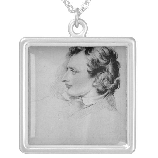 Portrait of Benjamin Robert Haydon Silver Plated Necklace