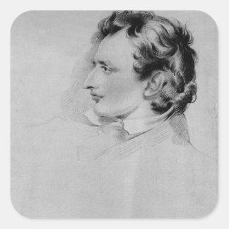 Portrait of Benjamin Robert Haydon Square Sticker