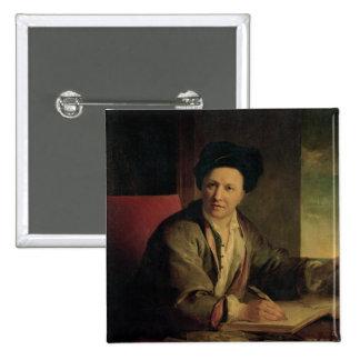 Portrait of Bernard le Bovier de Fontenelle Button