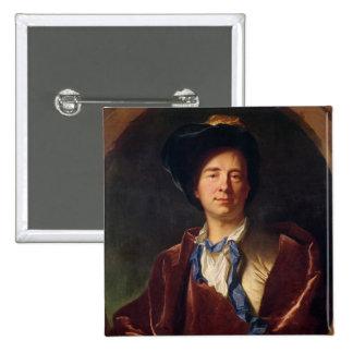 Portrait of Bernard le Bovier de Fontenelle Pinback Button