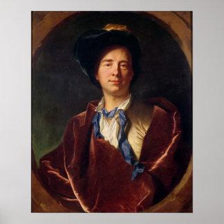 Portrait of Bernard le Bovier de Fontenelle Poster