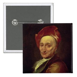 Portrait of Bernard Le Bovier Pinback Button