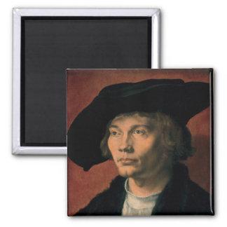 Portrait of Bernard von Reesen by Durer 2 Inch Square Magnet