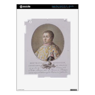 Portrait of Bertrand du Guesclin (1311-80), High C iPad 3 Skin