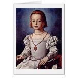 Portrait Of Bia Medici By Angelo Bronzino Greeting Card