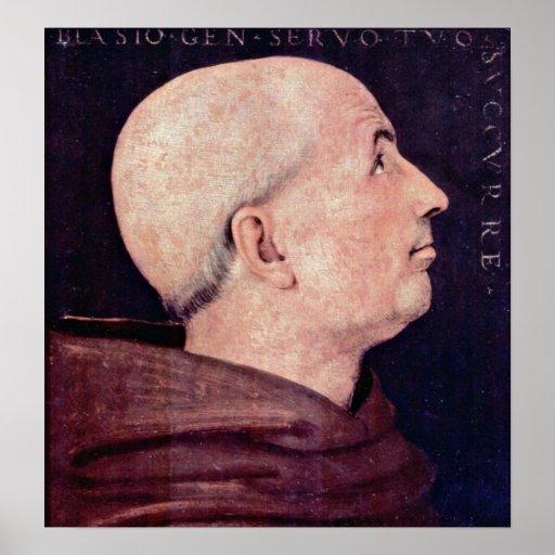 Portrait of Biagio Milanesi by Pietro Perugino Print
