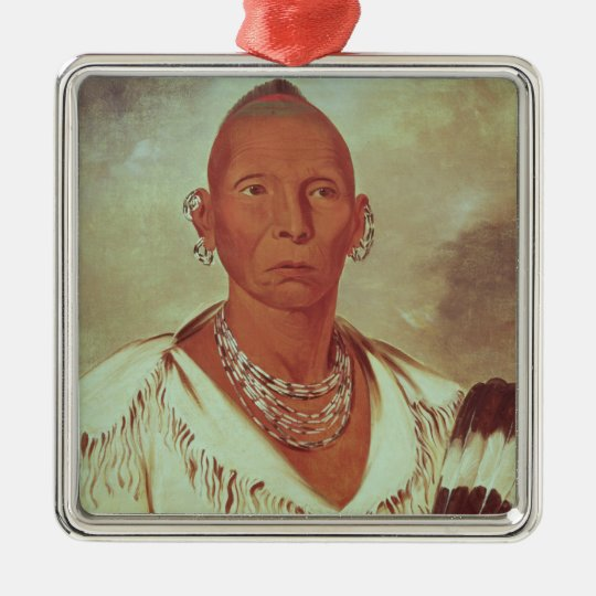 Portrait of Black Hawk, Indian Chief Metal Ornament