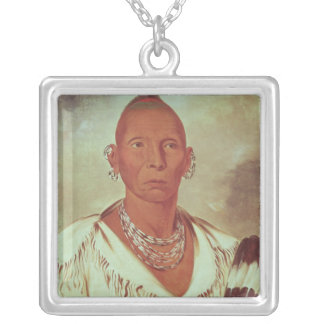 Portrait of Black Hawk, Indian Chief Custom Necklace