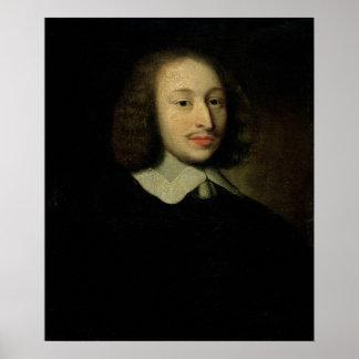 Portrait of Blaise Pascal Poster