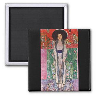 Portrait of Bloch-Bauer by Gustav Klimt 2 Inch Square Magnet