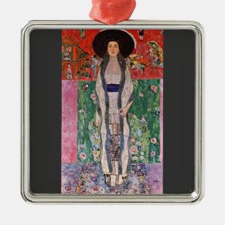 Portrait of Bloch-Bauer by Gustav Klimt Square Metal Christmas Ornament