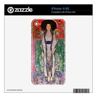 Portrait of Bloch-Bauer by Gustav Klimt iPhone 4S Decal