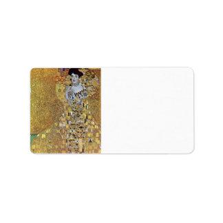 Portrait of Block-Bauer 2 by Gustav Klimt Label