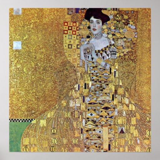 Portrait of Block-Bauer 2 by Gustav Klimt Poster