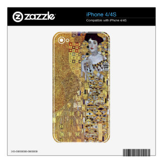 Portrait of Block-Bauer 2 by Gustav Klimt Decal For The iPhone 4