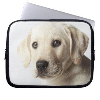 Portrait of blond Labrador Retriever Puppy Laptop Computer Sleeve